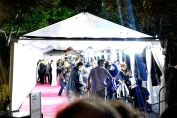 Tent that held the red carpet walkway