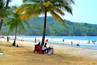 Relaxing at Maracas Bay