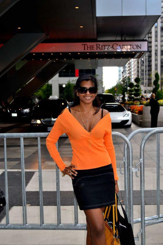 Nelly In front of the Ritz-Carlton