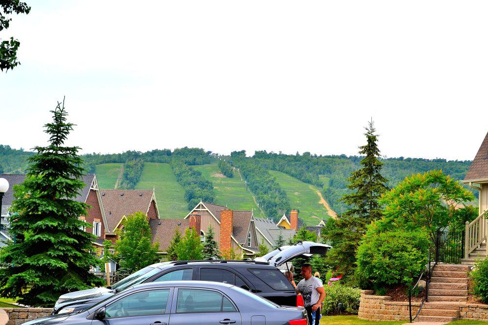 Summer ski hills at Blue Mountain Ski Resort