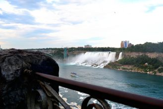 View of the American side of the Niagara Falls