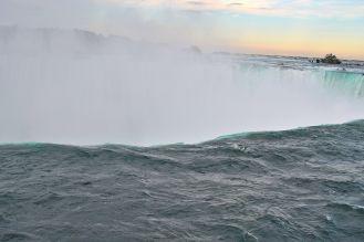 Sun just about to set over Niagara
