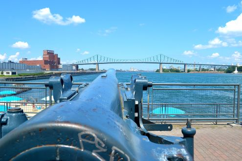 Cannons on the harbor