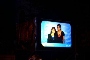 Photo displayed on large Screen overhead