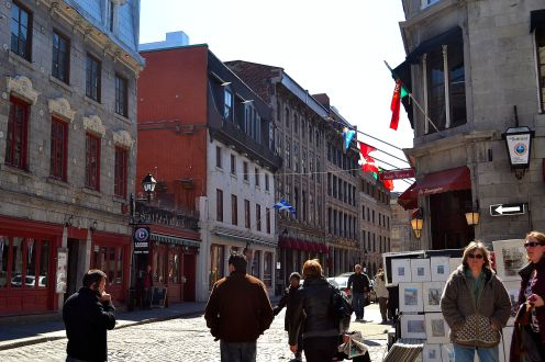 Old Montreal city streets