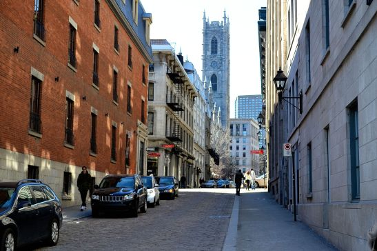 Street view of Montreal