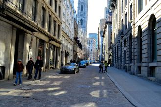 Beautiful street of Montreal