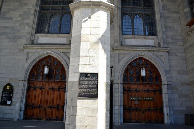 Front doors of Notre-Dame Basilica