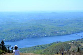 close view of lake at top