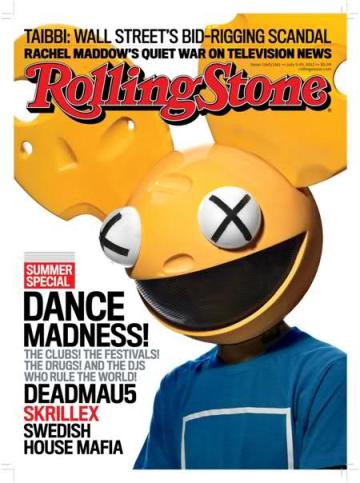 Deadmau5 on the cover of Rolling Stone Magazine