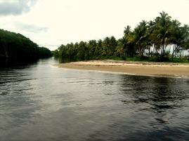 Water paths of Manzanilla Beach
