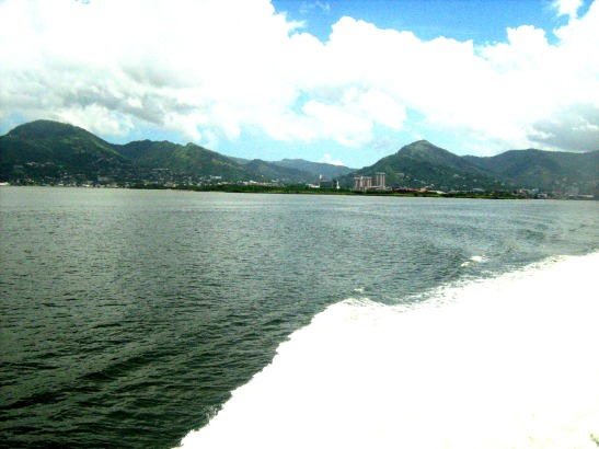 In between Trinidad and Tobago