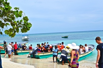 Boats taking passengers to 'Paradise Island' © Krystal Seecharan