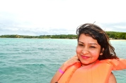 Myself on the boat to Paradise Island © Krystal Seecharan