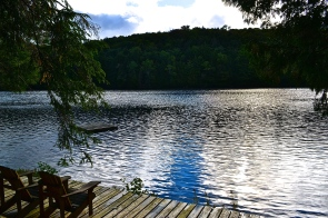 Afternoon clouds reflecting off the lake. (c) Krystal Seecharan