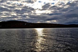 late evening sun reflection dancing on the lake. (c)Krystal Seecharan