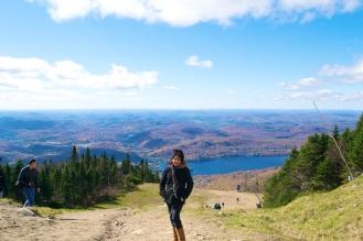 Myself at the top of Mont Tremblant (c)Krystal Seecharan