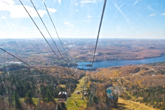 View from the gondola descending the mountain (c)Krystal Seecharan