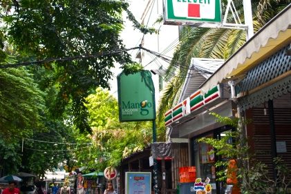 Our guesthouse was conveniently located beside a 711. (c) Krystal S.