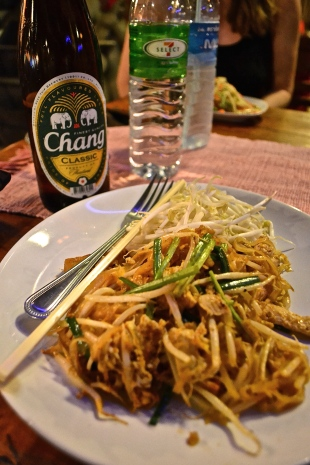 No Pad Thai meal is complete without a Chang Beer (c) Krystal S.